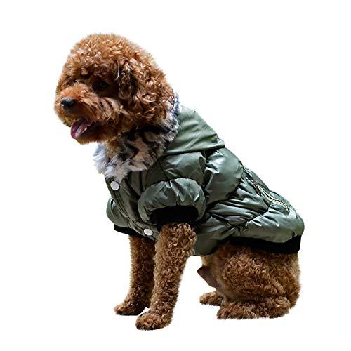 (Fenverk Hundeweste Winter Mantel Warm Winddicht Jacke Bekleidung Kalt Wetter Zum Klein Mittel Groß Hunde Haustier Katze HüNdchen Kleidung KostüM(Armeegrün,XS))