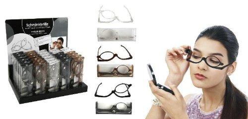 Damen Schminkbrille Lesebrille Schwarz praktische Schminkhilfe 1,5 Dioptrien