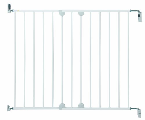 Safety 1st 24384312 Sicherheitsgitter zum ausziehen, einfach an der Wand zu befestigen, weiß