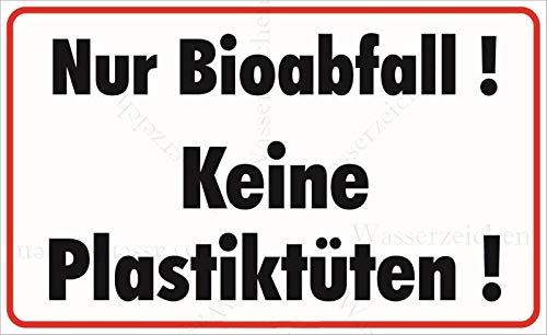 Sticker-Designs 20cm!2Stück!Aufkleber-Folie Wetterfest Made IN Germany Bio Abfall Keine Plastiktüten Plastik S807 UV&Waschanlagenfest-Auto-Vinyl-Sticker Decal Profi Qualität DigitalSchnitt