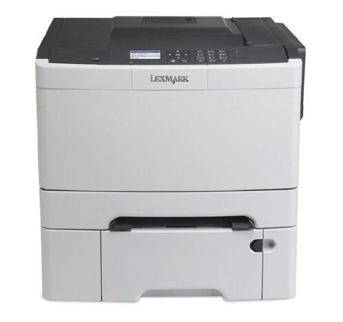 Lexmark CS410DTN Farblaserdrucker (1200 dpi, USB 2.0) graphit/weiß