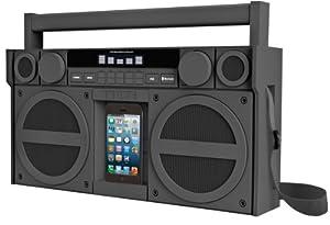 SDI iBT44GE iHome gummiert Mega-Boombox (Bluetooth, FM-Radio) grau