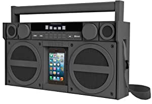 SDI iBT44GE iHome Rubber Mega Boombox (Bluetooth, FM Radio) Grey
