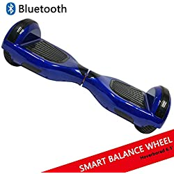 """Dragon Tecnology Hoverboard con Ruedas DE 6.5"""" Scooter eléctrico Self-Balancing Self Blance Scooter Monopatín eléctrico Smart Self Balance Board Dibujo en Color (BLU)"""