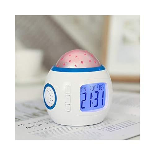 Unbekannt Wecker Projektion an der Decke Dimmer Temperaturanzeige Snooze Verfärbung Startseite Schlafzimmer Nacht Kinder Kinder Geburtstagsgeschenk (Color : A, Size : 10cm)