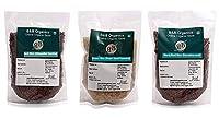 B&B Organics Rice Pack (Red Rice, Brown Rice, Black Rice [karunkuruvai])- Each 500 Grams