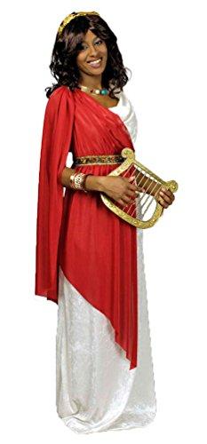 Karneval-Klamotten Römerin Kostüm Griechische Göttin Damen-Kostüm mit Lorbeerkranz Größe 44/46