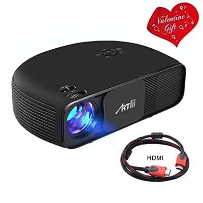 Retroprojecteur HD, Artlii Video projecteur 1280x800p 3D - Projecteurs LED Relier Ordinateur Portable PC iPhone Smartphone pour Jeux Video Films de Artlii