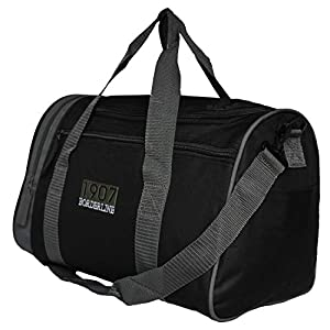Borderline Very Small Holdall/Shoulder Bag (Black with Grey Trim)