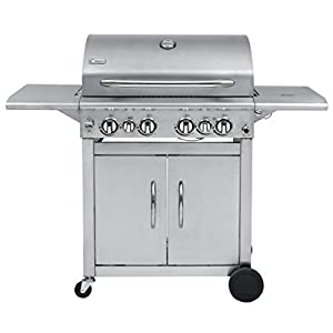 41Ixy2d0umL. SS300  - Keansburg Stainless Steel Gas BBQ Grill Compatible with 57cm Grid-in-Grid System