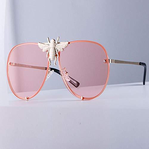 ZHOUYF Sonnenbrille Fahrerbrille Metall Big Bee Aviator Sonnenbrille Verlaufsglas Uv400 Retro Männer- Und Frauenton, D