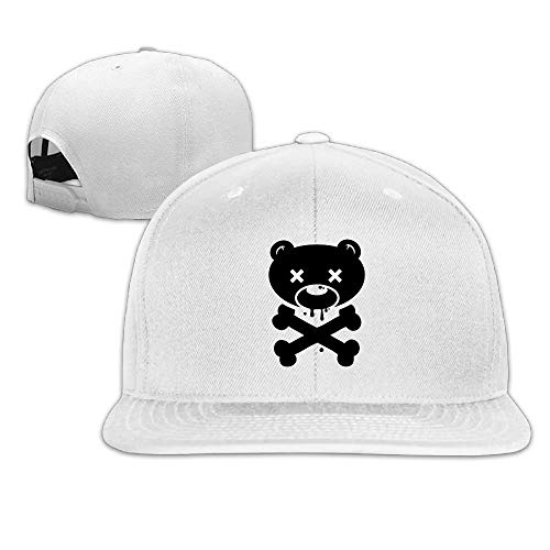 VTXINS Halloween Bear Skull Snapback Unisex Adjustable Flat Bill Visor Dad Hat (Derby 2019 Halloween)