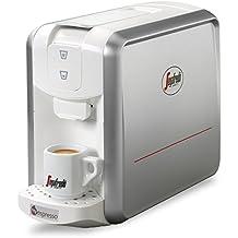 Segafredo-Cafetera de Espresso 1 Colore Silver White
