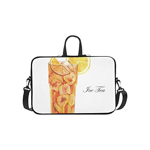 Tee Tasse Und Schwarzer Tee Muster Aktentasche Laptoptasche Messenger Schulter Arbeitstasche Crossbody Handtasche Für Geschäftsreisen