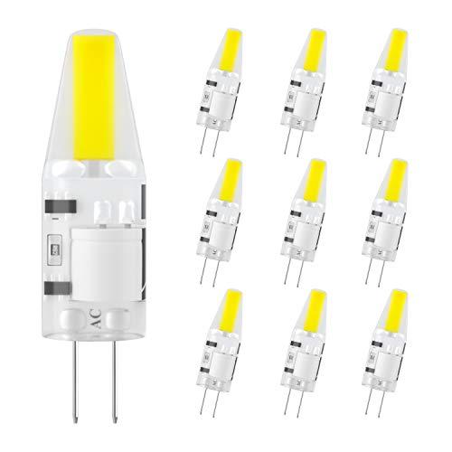 DiCUNO G4 LED Lampe 2W, AC/DC 12 V mit 200 LM, COB,Ersatz für 20W Halogen Lampen,Kaltweiß 6000k,Nicht dimmbar,Kein Flackern, 10-er Pack[Energieklasse A+] -