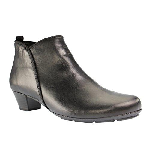 Gabor - 75,633 Mulheres Curtas Botas Eixo Sapatos Pretos Em Mais Tamanhos