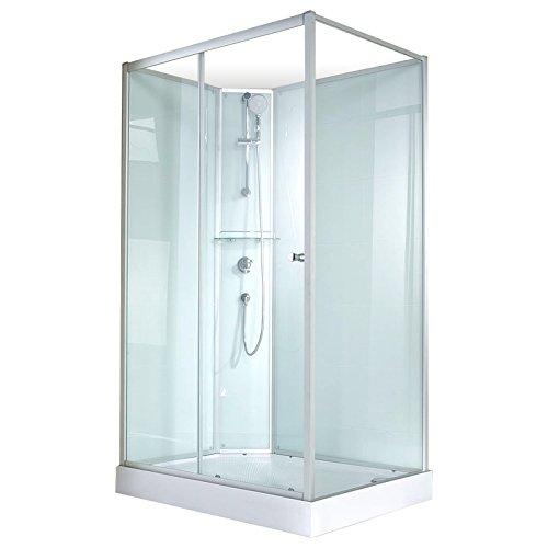 Schulte 4060991009877 Cabine de douche complète Corsica, cabine de douche intégrale, version gauche, vert d'eau, 120x80 cm
