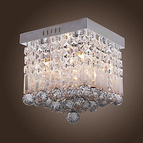 BKLaterne Contemporanea di cristallo montaggio a filo con 4 luci in rilievo Design