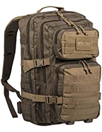 Mil-Tec US Assault Pack Backpack, Color Ranger Green/Coyote, tamaño Small