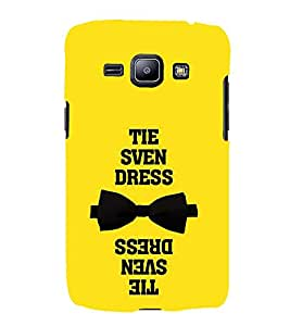 Tie Dress Quote 3D Hard Polycarbonate Designer Back Case Cover for Samsung Galaxy J1 (2016) :: Samsung Galaxy J1 (2016) J120H