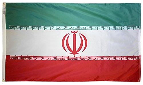 Iran Flagge 3x 5ft. Nylon solarguard nyl-glo 100% Made in USA zu offiziellen Vereinten Nationen Design Spezifikationen von Annin flagmakers. Modell 193785 - Nyl Banner