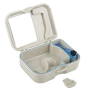 Dental Box falschen Zahn Fall mit Spiegel und Zähne Reinigungsbürste, ideal für Dental Guard Container, Halter Fall, falsche Zähne Container, Beißringe, Beißschutz