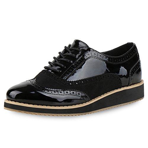 Japado , Chaussures de ville à lacets pour femme Schwarz