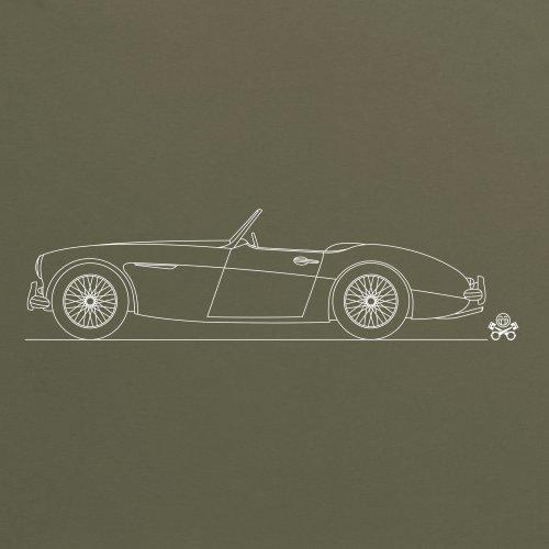 PistonHeads 1959 British Roadster Sports Car T-Shirt, Herren Olivgrn