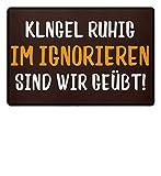 Shirtee Fun Fußmatte Lustig Klingel Geschenk - Fußmatte