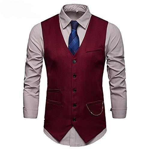 Showu Herren Paisley Weste Slim Fit Geschäft Hochzeit Elegant Anzugweste Stil Blazer -