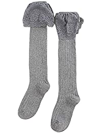 Shujin Damen Herbst Winter S/ü/ß Halterlose Str/ümpfe Lange Overknee Str/ümpfe /Über Kniestrumpfe M/ädchen Hold-up-Str/ümpfe Sch/üler Knitting Sportsocken mit Spitze