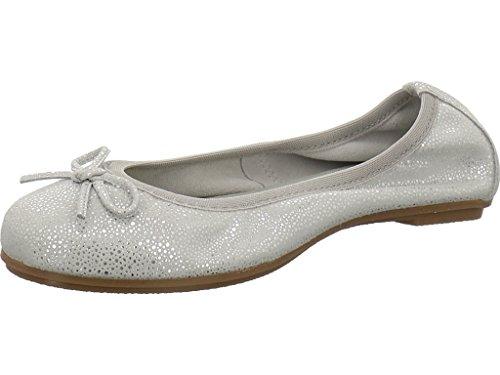 Marco Tozzi Mädchen 42403 Geschlossene Ballerinas Grey Metallic
