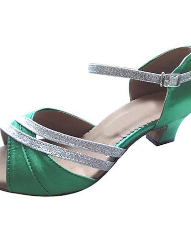 Sandales mode moderne féminin personnalisés Satin Toe/Glitter La Chaussures de danse latine et Salsa De Partie US5.5/EU36/UK3.5/CN35