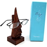 Nose shaped wooden spectacle holder