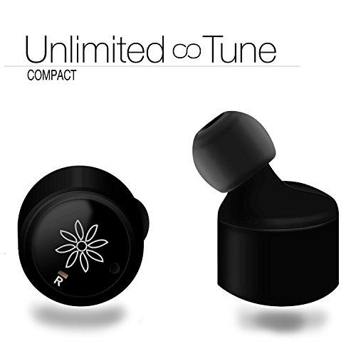 Tune Compact- Absolut drahtlose Bluetooth In-Ear Kopfhörer - Mini Bluetooth Kopfhoerer - Stereo Headset - Wireless Earbuds - 8 Stunden Musikgenuss / Telefon - Drahtlos via Bluetooth 4.0 - Original aus Österreich (Wireless Innovationen Headset)