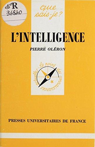 En ligne téléchargement L'Intelligence pdf ebook