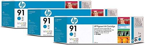 Preisvergleich Produktbild HP 91 3er-Pack Cyan Tintenpatronen, 775 ml