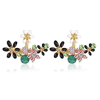 Shining Diva Fashion Multicolour Crystal Stylish Stud Earrings for Women and Girls (8844er)