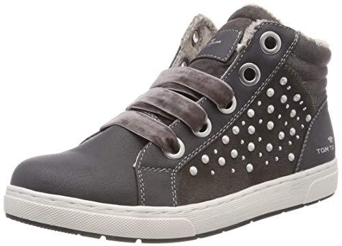 TOM TAILOR Mädchen 5871907 Hohe Sneaker, Grau (Coal 00013), 38 EU