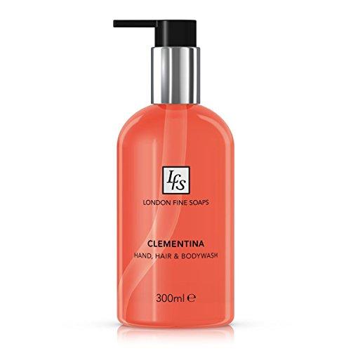 london-fine-soaps-byr225-03-clementina-capelli-e-corpo-lavare-a-mano-300-ml-confezione-da-6