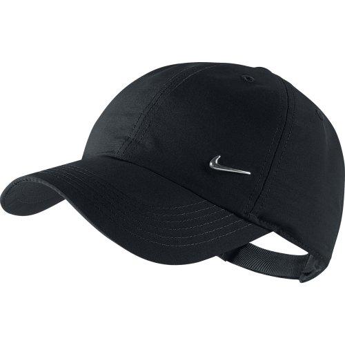 Nike Boys Heritage 86 Metal Swoosh Cap - Black/Metallic Silver, One Size