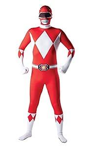 Rubies - Disfraz Oficial de Power Rangers de Mighty Morphin para Adulto (Talla Mediana), Color Rojo