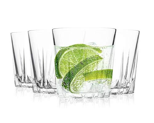 Tivoli Ibiza Saftgläser - 295 ml - Set aus 4 - Hochwertige Gläser - Spülmaschinenfest - Kristallgläser
