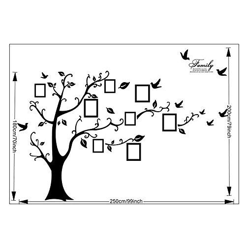 Wand Aufkleber Kinder Wand Sticker Cartoon PVC DIY Wandaufkleber Wandtattoo Muster:Baum Bilder Speicher (Kinder-kunst-speicher)