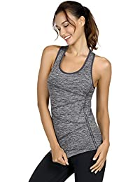 fa1056835ac Disbest Activewear Vests Racerback Yoga Tank Tops Sleeveless Running Shirts  Sports Workout Tees for Women