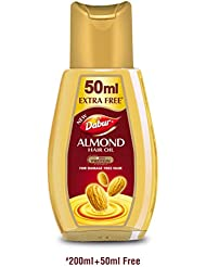 Dabur Almond Hair Oil, 200ml (Extra 50ml)