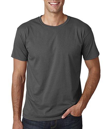 Gildan Soft-Style Herren T-Shirt, Kurzarm, Rundhalsausschnitt (XL) (Kohlegrau)