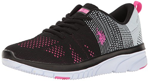us-polo-assnwomens-womens-carey-k-fashion-sneaker-black-white-fuchsia-6-m-us