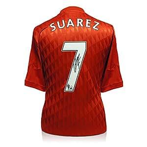 Maillot Liverpool FC signé par Luis Suarez