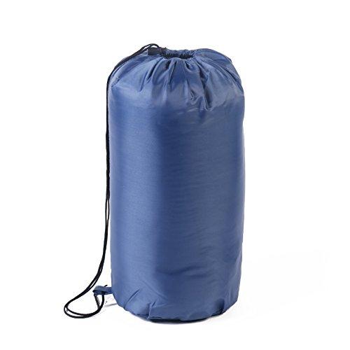 Candora TM Outdoor sacco a pelo campeggio sacco a pelo busta per viaggio trekking multifunzione ultra leggero impermeabile zaino borsa, Navy